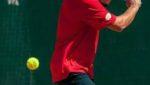 Istruttore di tennis Emiliano Paolini, durante partita, Centro Le Sequoie