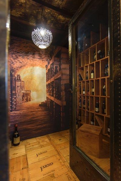 cantina di vini del ristorante Le Sequoie in Abruzzo